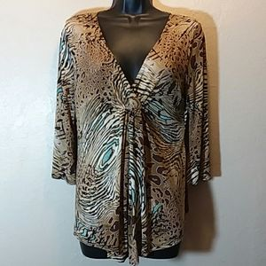 ❤4/25.00 Investments Women sz med pre-owned blous…